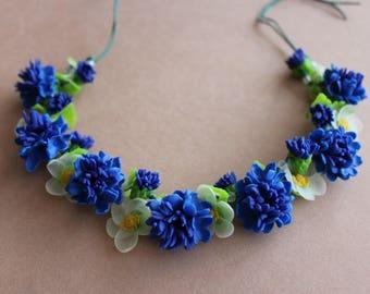 Jewellery with cornflowers