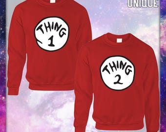 THING 1 OR THING 2- Crewneck Sweatshirt-Unisex