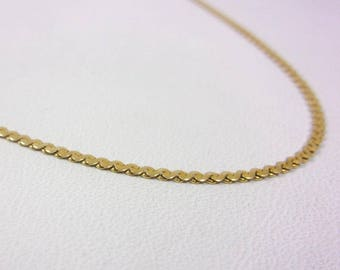 "Solid 14K Yellow Gold 16"" 1.1mm S-Link Chain Necklace, 3.2 grams"