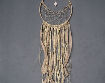 Handmade natural thread dream catcher for wall hanging