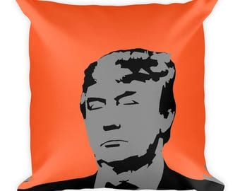 Trump Square Pillow