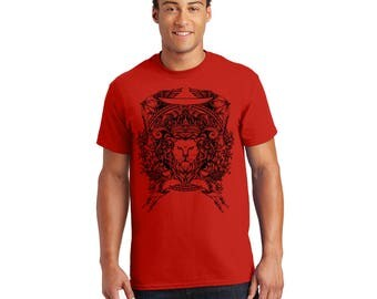 Lion Crest Tshirt, Tee, Shirt, Gift for Her, Gift for Him