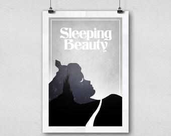 Sleeping Beauty (1959) Walt disney classic animation movie Minimal art home decor poster