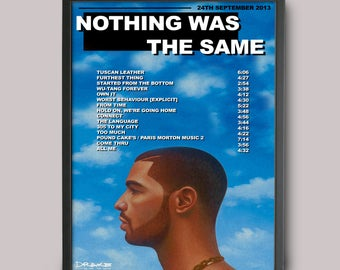 Drake Nothing Was The Same Custom Poster // Instant Download // Printable