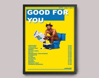 Amine Good For You Custom Music Poster // A3 Album Art // Wall Art Poster Design