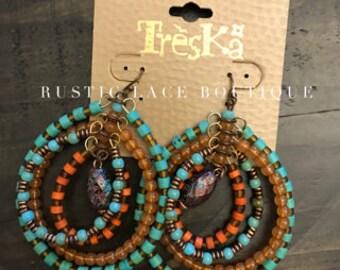 Layered Beaded Earrings