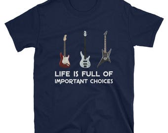 Vintage Guitar T-Shirt Electric and Acoustic Gift Tee