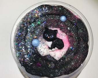 Kitten Fur Slime!!! Scented and comes with a kitten charm!