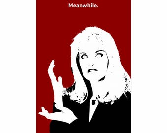 Laura Palmer Meanwhile Hands in Black Lodge - Twin Peaks Poster