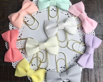 Fabric Bow Planner Clip {pastels}