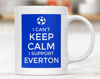 Everton Supporter Mug, Football Gift Mug, Football Supporter Mug, Funny Football Mug, Football Fan Present, Football Team Lover