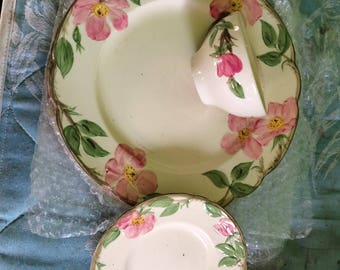 One 3 piece Place Setting Desert Rose Franciscan Ware