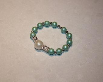 Stretchy beaded bracelet for kids, children jewelry, bigoux nom enfant