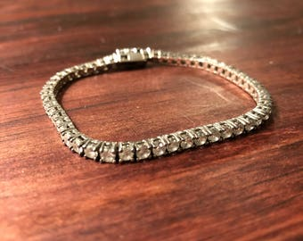 Sterling Silver and CZ Tennis Bracelet