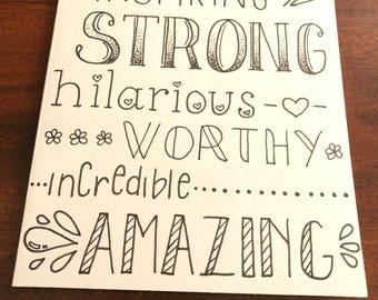 Inspiring Words Card