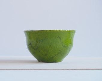 Small ceramic bowl, green ceramic bowl, decorative ceramic bowl, handmade ceramic, handmade pottery, home decor
