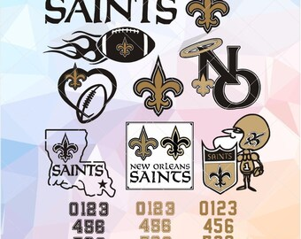 New Orleans Saints SVG EPS DXF, New Orleans Saints vector files, Download Football Files, Cricut, Cameo, Vinyl Machine