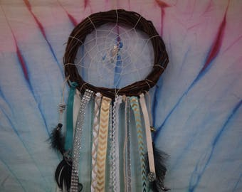 Wreath and crystal dream catcher