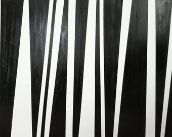 Stripes, contemporary art oil painting