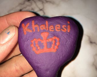 "Heart shaped ""Khaleesi"" rock"
