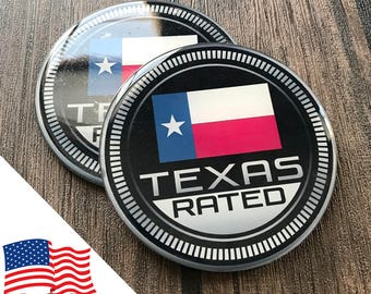 2PCS Jeep Wrangler Custom Badge Emblem (Trail Rated) 07-18 Texas Rated