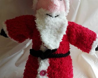 Hand knitted Santa toy/decoration