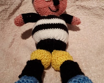 Bertie Bassett knitted doll