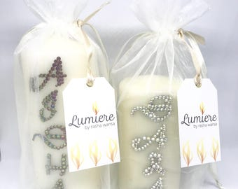Personalised candle gifts