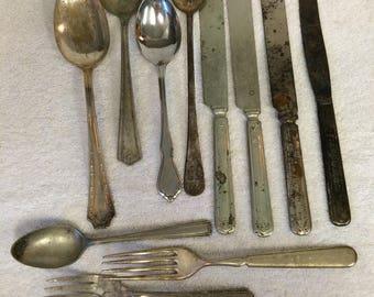 Vintage Silverplate Flatware, Knives, Forks, Spoons