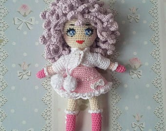 Adorable Small Crochet Doll (12.5 cm)