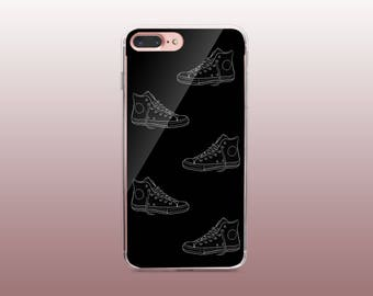 Black & White Clear TPU Phone Case for iPhone 8- iPhone 8 Plus - iPhone X - iPhone 7 Plus-iPhone 7-iPhone 6-iPhone 6S-Samsung S8