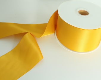 Dandelion Satin Ribbon By The Yard / Wholesale Ribbon By The Yard / Ribbon By The Yard / Bridal Ribbon / Craft Ribbon / Dandelion