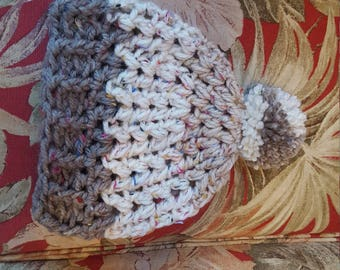 Artsy pompom hats