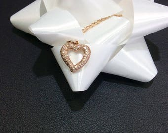 Rose Gold and Diamond Heart necklace