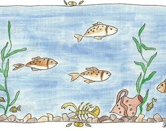 Sea treasures Pre-made card