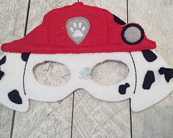 Firefighter Paw Masks Puppy, Hero, Fire, Fighter, Working Dog, Patrol, Inspired Mask, Pretend Play, Imagination