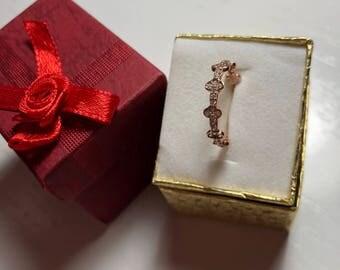 14KT ROSE GOLD Eternity Ring
