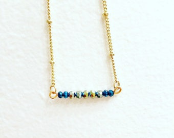 Teeny-tiny Sparkle Bar Necklace