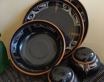 Noritake stonewear - desert fire - 5 piece set