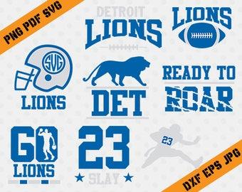 Detroit Lions, 23 Slay football, team, cutting machines, T-shirt Design, Detroit Lions Silhouette, TT-033