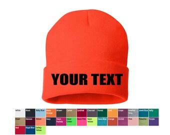 custom beanies, personalized beanies, bulk beanies, your text beanies