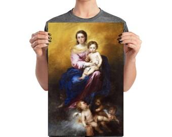 Catholic art - Our Lady of the Rosary - High Quality Poster - Virgin of the Rosary - Virgin Mary art - Virgin and Child - catholic print