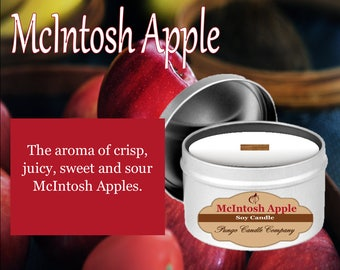 McIntosh Apple Scented Soy Candle Tin (8 oz.)