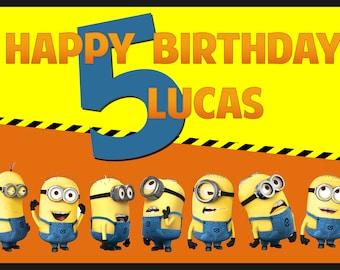 Minions Birthday Poster