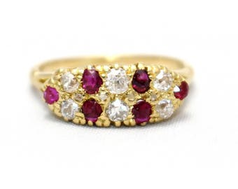 Ruby and Diamond ring, vintage