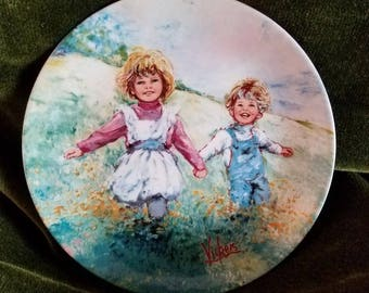 Playtime Wedgewood Plate by Mary Vickers 1982
