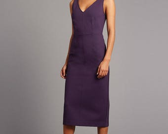 Marks and Spencer AUTOGRAPH Back Zipped Bodycon Midi Dress Size 22