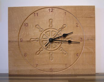 SOLID OAK Wall Clock
