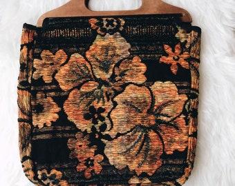 Vintage handbag, 70s purse, vintage purse