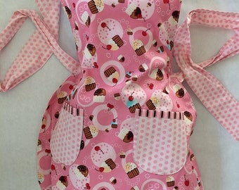 Pretty in Pink Cupcakes Apron - Reversible
